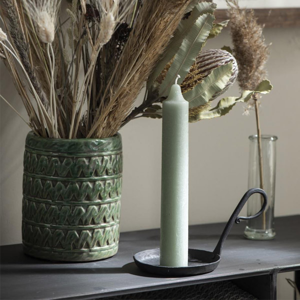 METAL CANDLE HOLDER WITH HANDLE