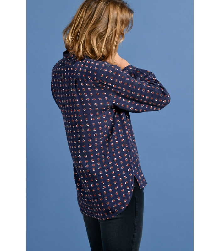 MAT DE MISAINE CANDO NAVY AND RED PRINT SHIRT {WAS £95}