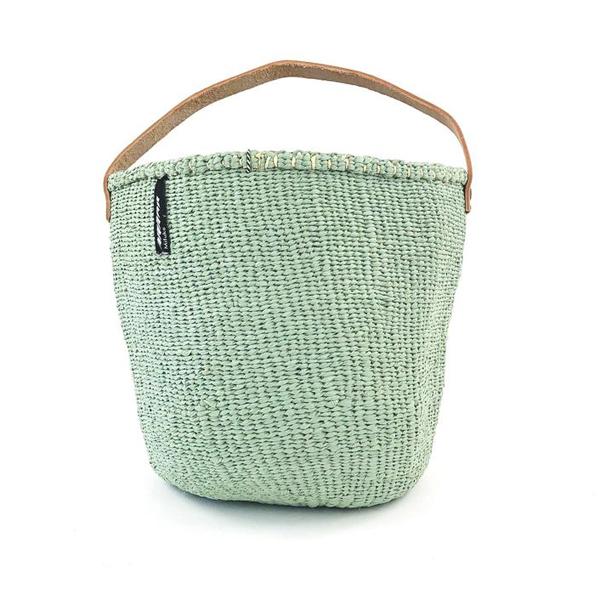 MIFUKO LIGHT GREEN BASKET WITH HANDLES SMALL