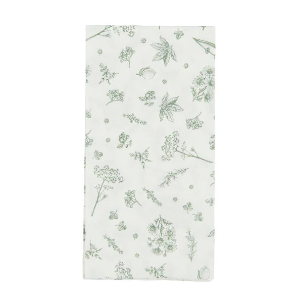 NATURE PAPER NAPKINS PACK OF 16 GREEN