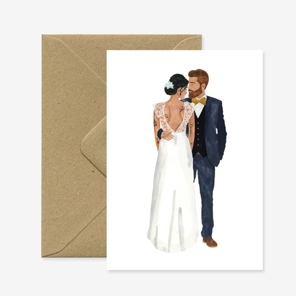 NEWLY WEDS GREETINGS CARD