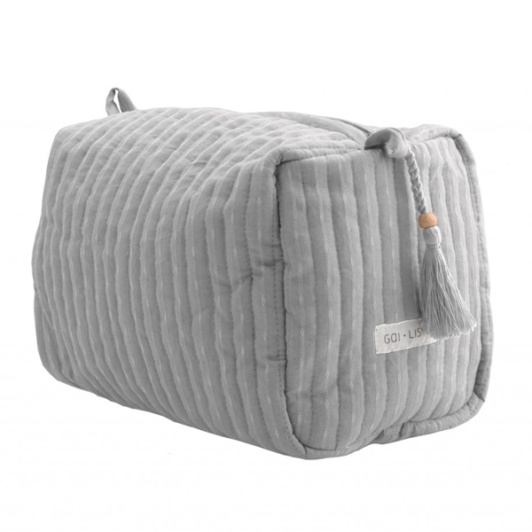 COTTON WASHBAG LIGHT GREY