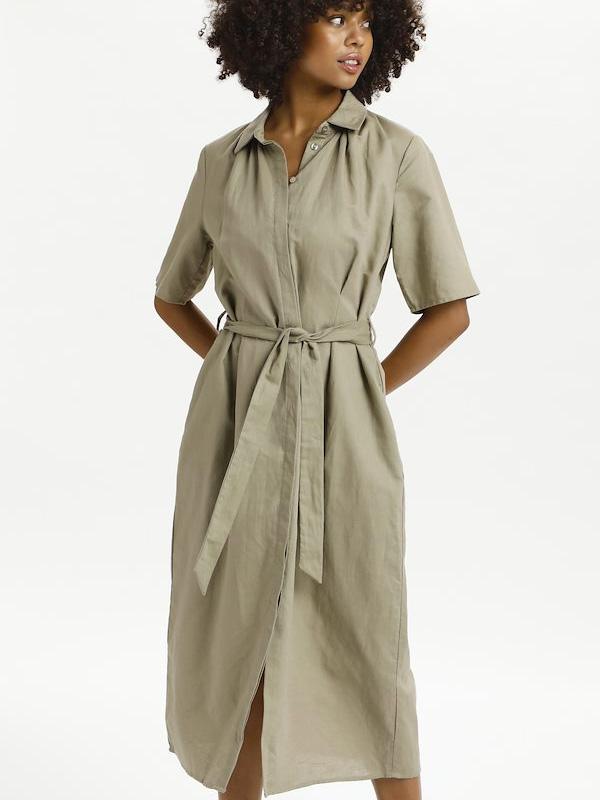 LOUNGE NINE LILO SHIRT DRESS VINTAGE KHAKI