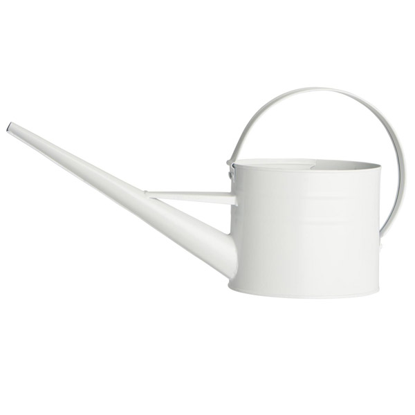 WHITE METAL 1.4L WATERING CAN