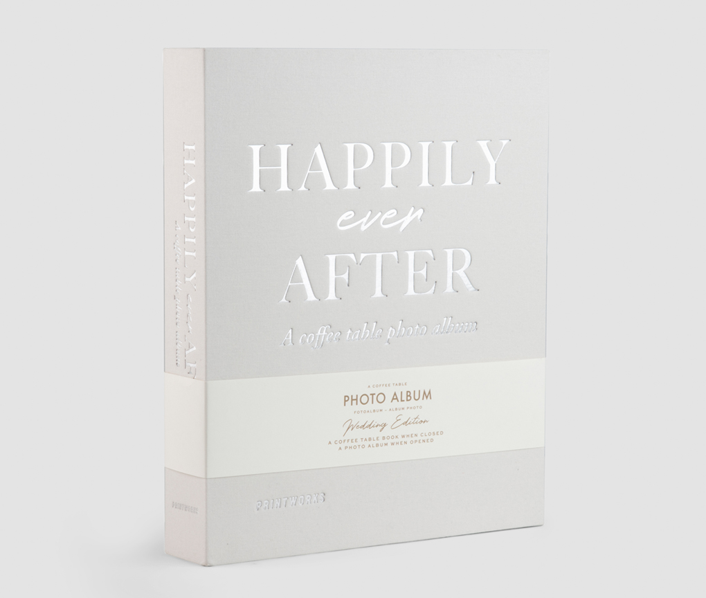 WEDDING PHOTO ALBUM HAPPILY EVER AFTER IVORY