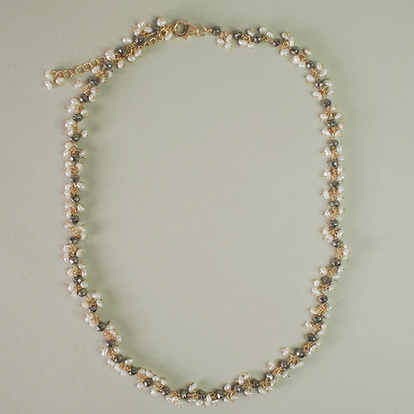 IMIRI PEARL AND BEAD NECKLACE GOLD