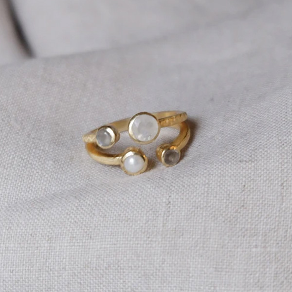 BOKA CLASSIC RING WITH STONES