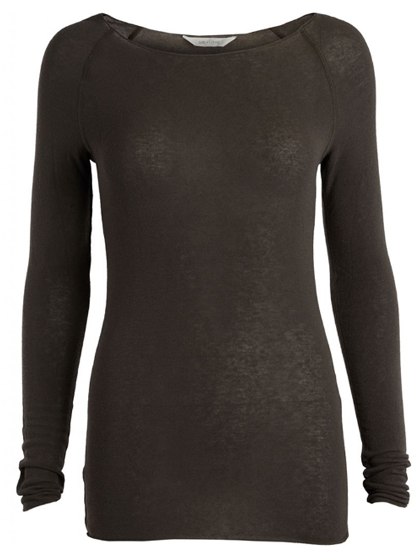 GAI + LISVA AMALIE TOP DARK OLIVE GREEN