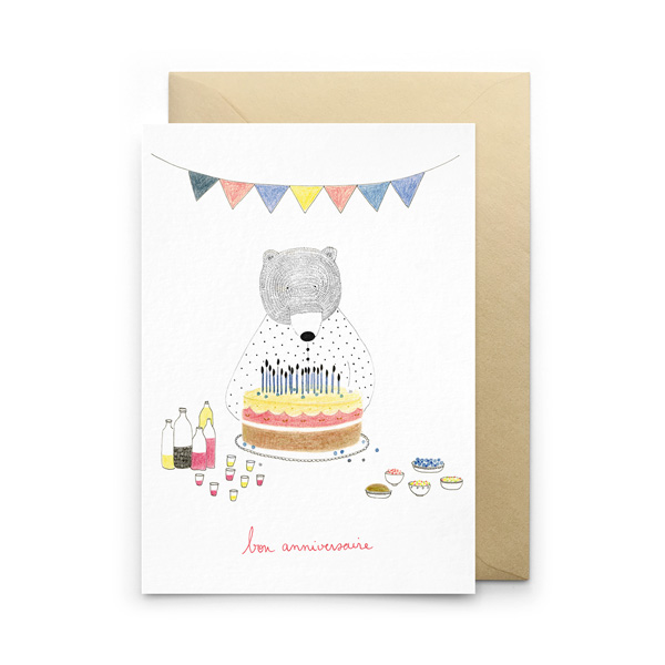 BIRTHDAY BEAR GREETINGS CARD