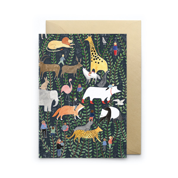 JUNGLE ANIMALS GREETINGS CARD