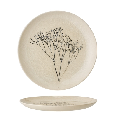 PARSLEY PRESSED PLATE CRACKLE GLAZE {was £17}