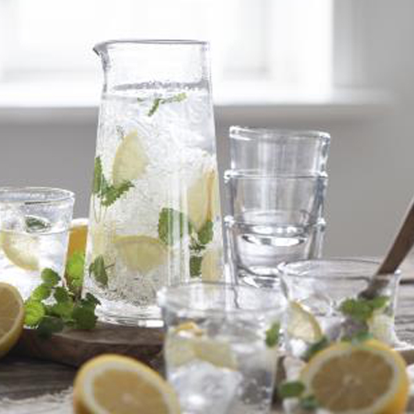 GLASS PITCHER JUG CLEAR {was £18.50}