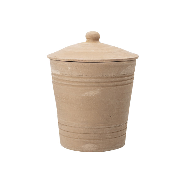 TERRACOTTA STORAGE JAR WITH LID MARION