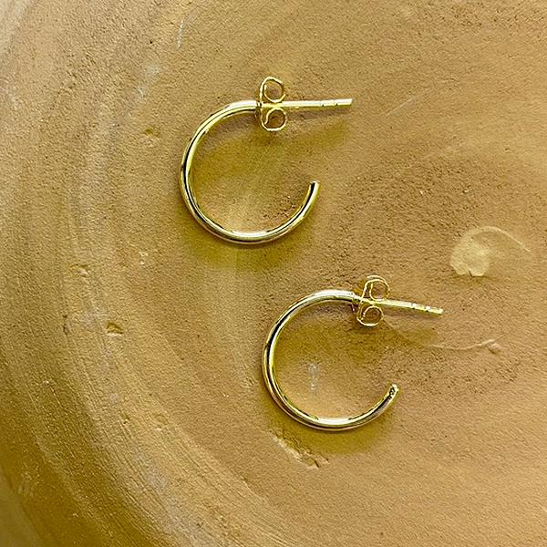 GOLD EVERYDAY HOOP STUD EARRINGS MM0SG