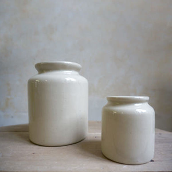MANUFACTURE DE DIGOIN MUSTARD POTS THREE SIZES