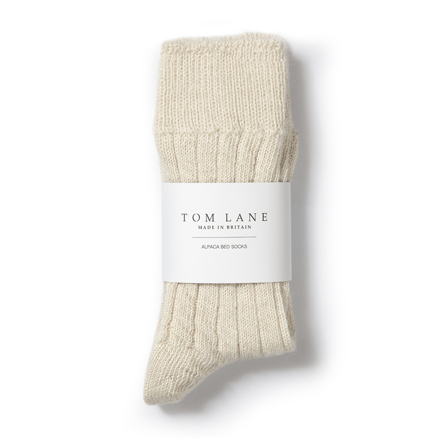TOM LANE ALPACA BED SOCKS CREAM