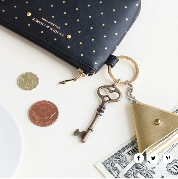 ICONIC SPOT BLACK COIN PURSE {was £10}