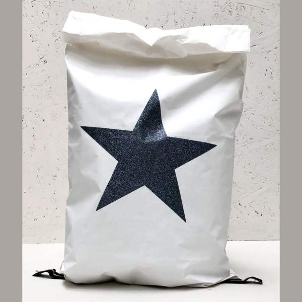 GIANT CHRISTMAS PAPER SACK SPARKLE STAR