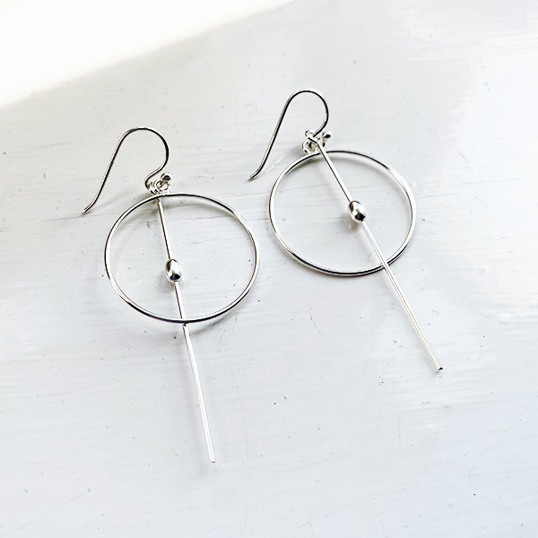 VIC-13 SILVER DROP EARRINGS
