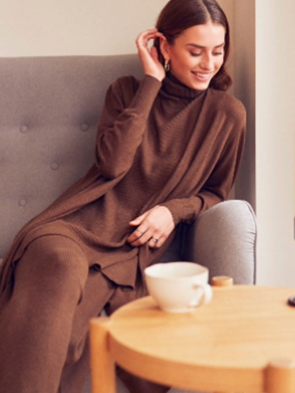 LOUNGE NINE CELESTINA KNIT CARDIGAN CHOCOLATE {was £99.95}