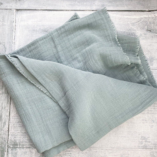 PALE BLUE COTTON THROW/TABLE CLOTH DOUBLE WEAVE {was £48}