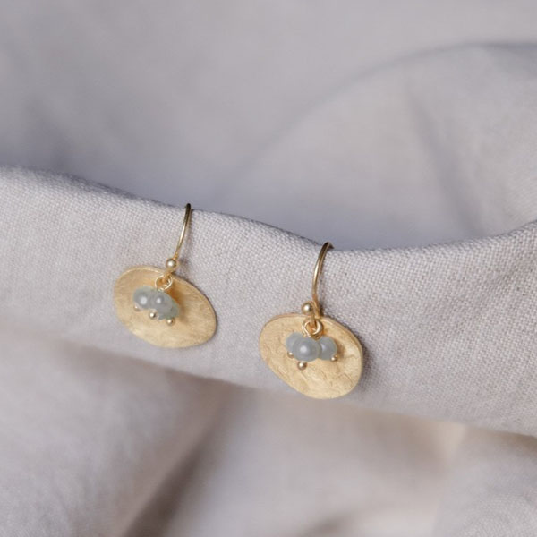 SHILA GOLD & LABRADORITE EARRINGS