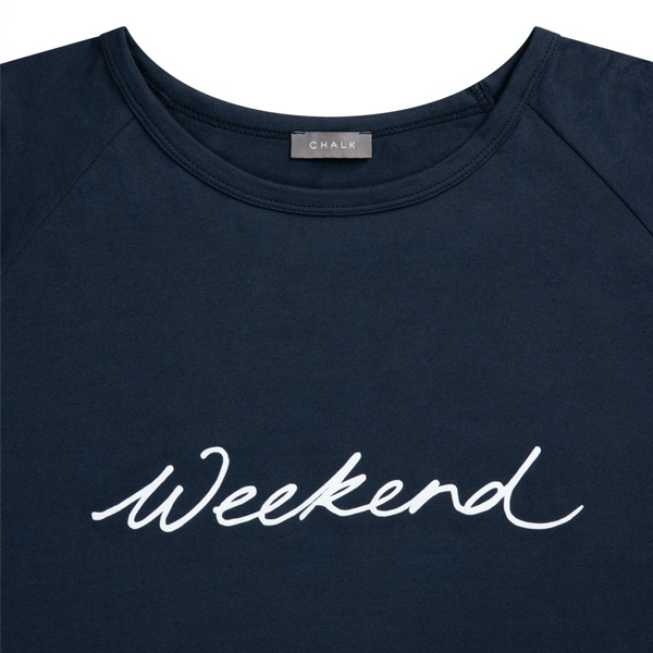 CHALK DARCEY T-SHIRT NAVY WEEKEND