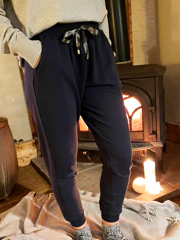 CHALK TESS NAVY LOUNGE PANTS