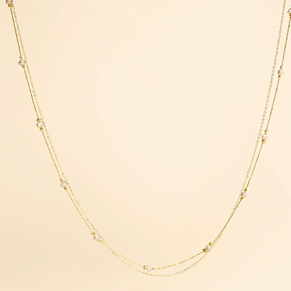 POSLA GOLD AND PEARL NECKLACE