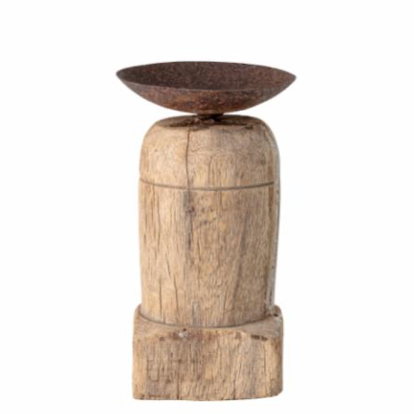 WOODEN RECLAIMED RUSTIC CANDLE HOLDER