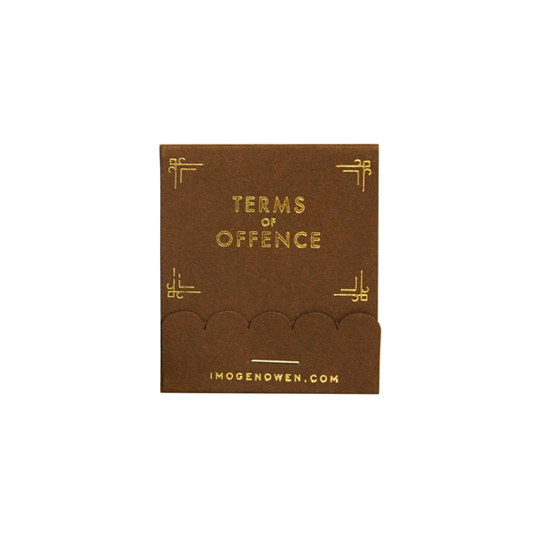 TERMS OF OFFENCE TEAR OUT CARDS