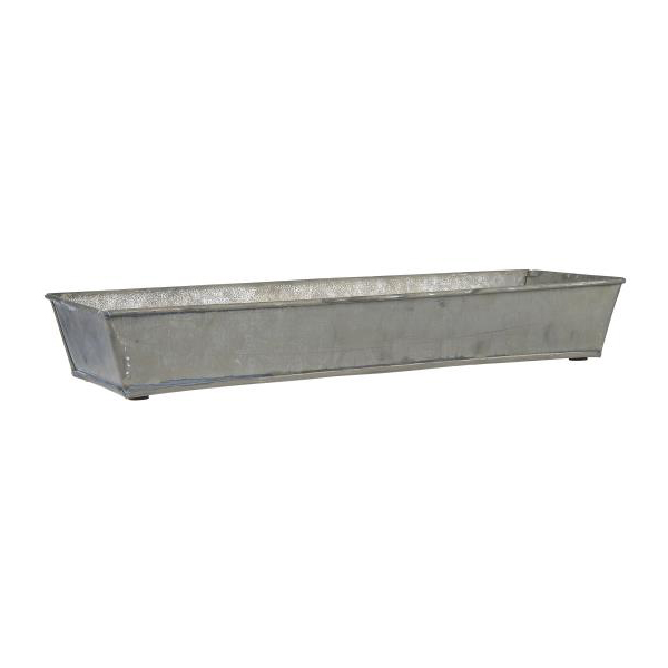 METAL TRAY WITH SIDES FOR CANDLES OR PLANTS