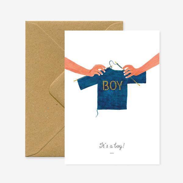 IT'S A BOY GREETINGS CARD