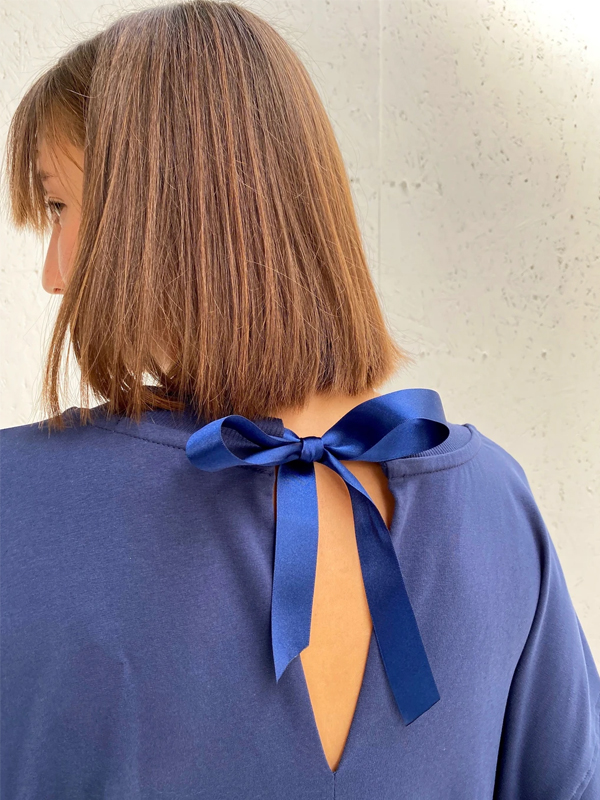 CHALK JULIE ALL IN ONE NAVY TIE BACK DETAIL
