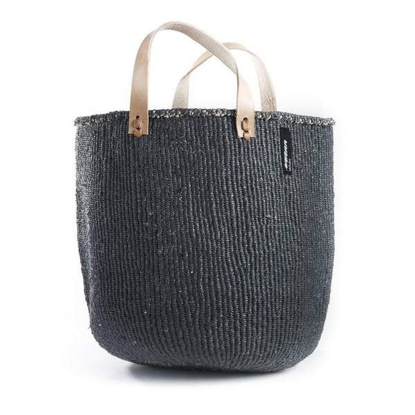 MIFUKO DARK GREY TOTE BAG M