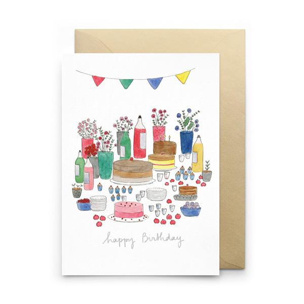BIRTHDAY TABLE GREETINGS CARD
