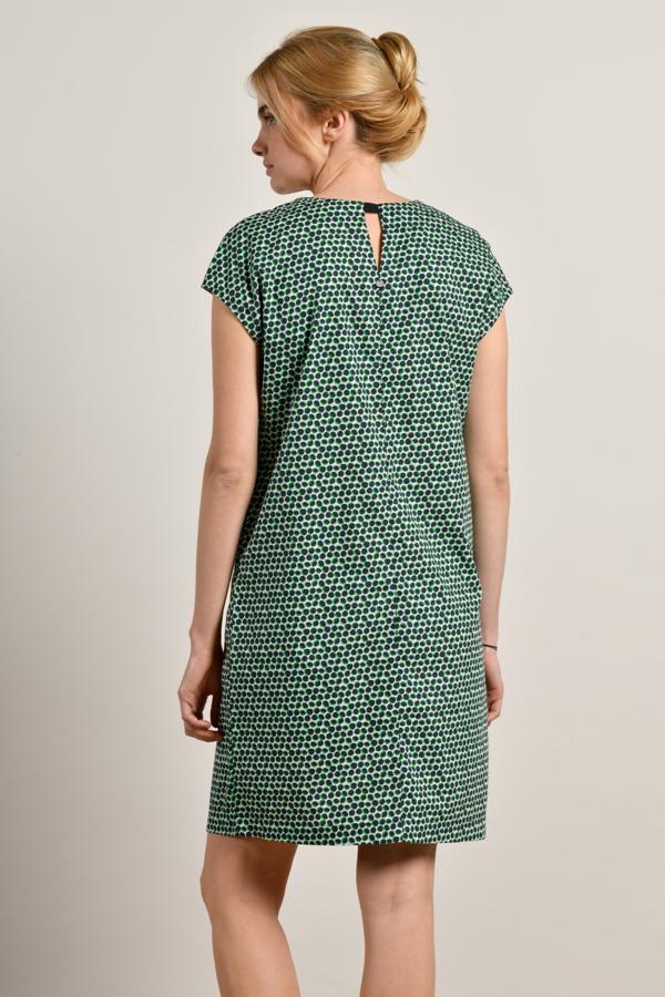 MAT DE MISAINE RIVELA GREEN AND NAVY PRINT COTTON DRESS {was £129}