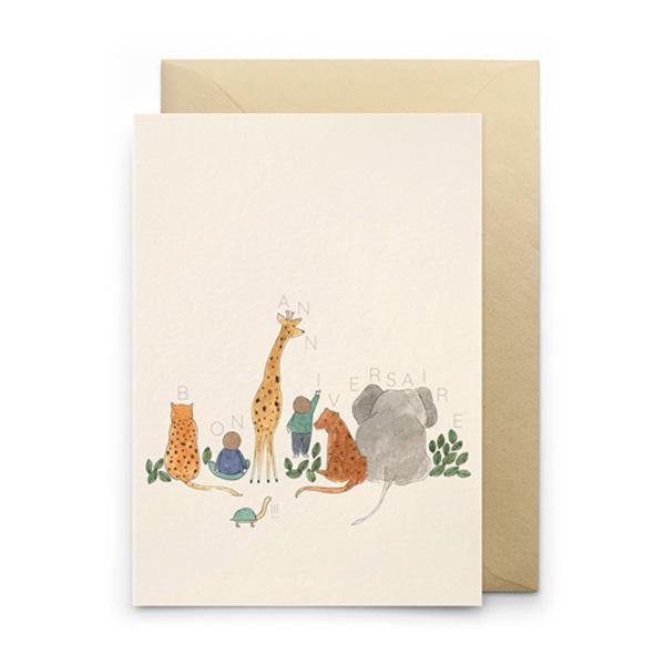 BON ANIVERSAIRE BIRTHDAY GREETINGS CARD