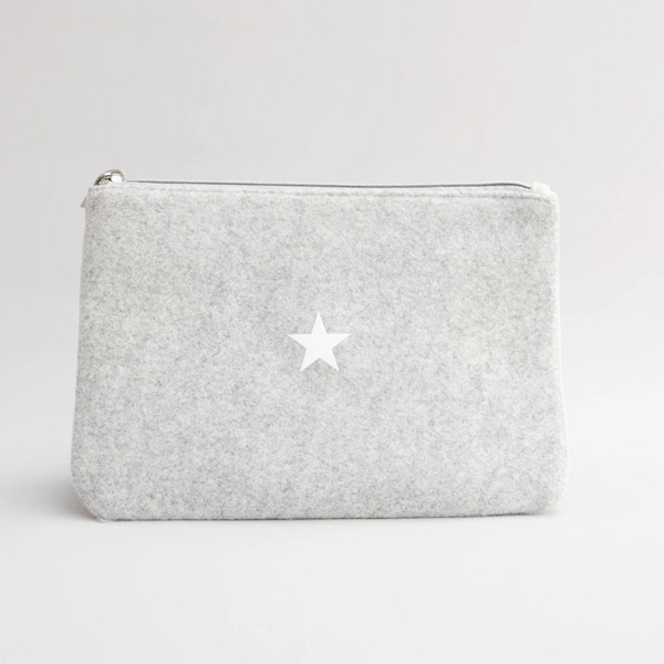 BELINDA POUCH BAG DOUBLE SIDED TWO SIZES AVAILABLE