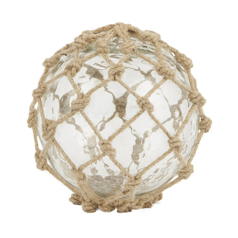 GLASS BALL WITH JUTE NET