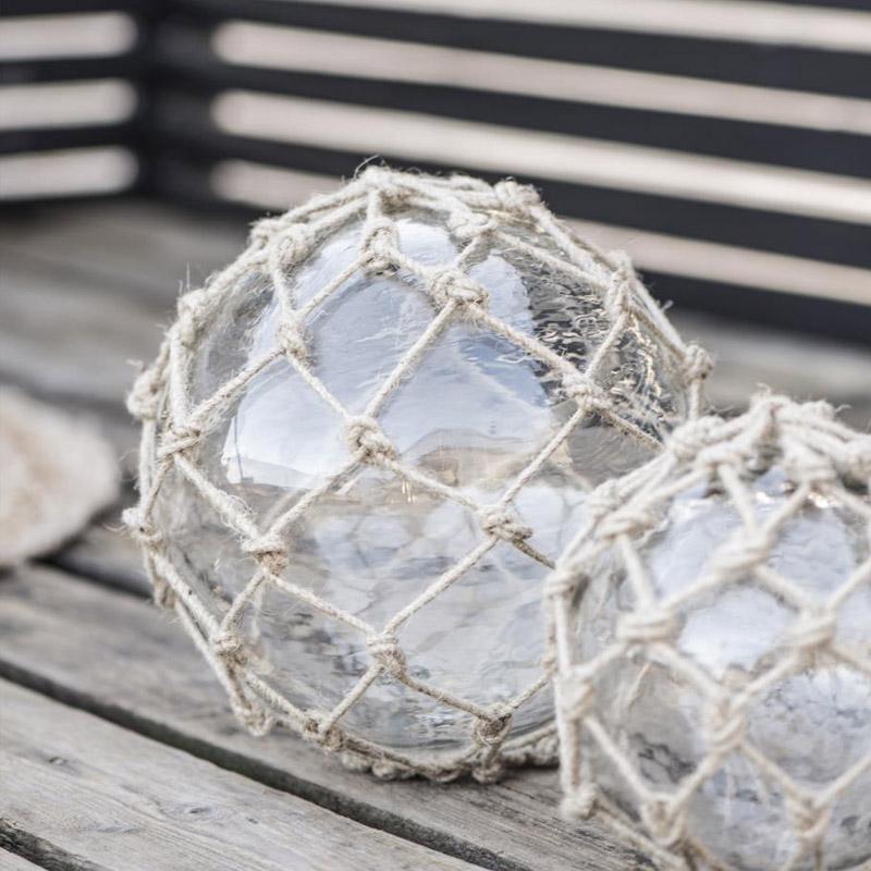 GLASS BALL WITH JUTE NET