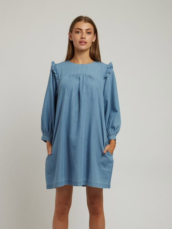 LOUCHE ELLY CHAMBRAY DRESS {was £65}