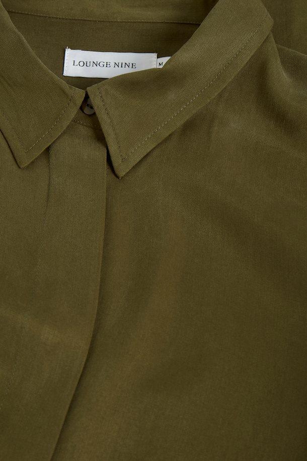 LOUNGE NINE TUNIC SHIRT DRESS MOSS