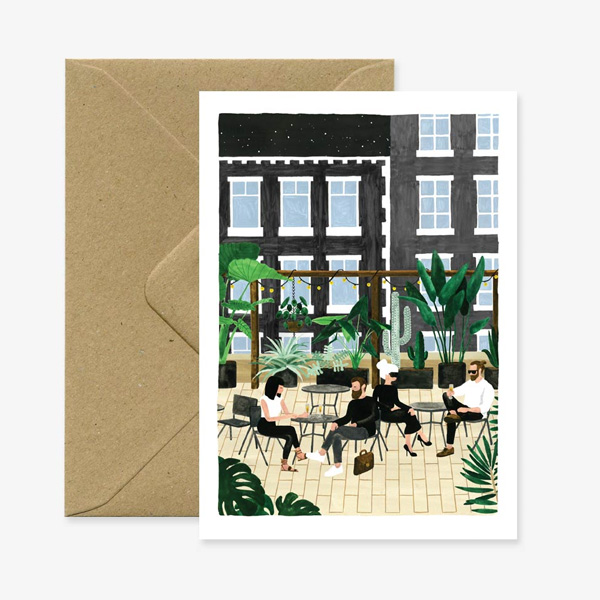 ROOFTOP DESIGN GREETING CARD