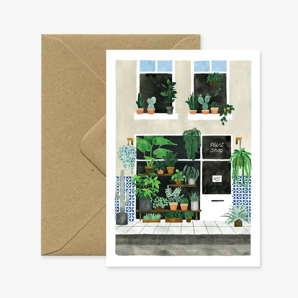 PLANT SHOP GREETINGS CARD