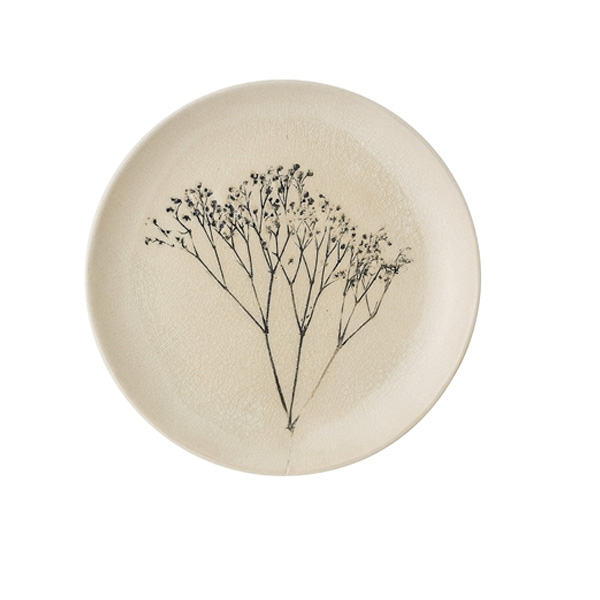 PARSLEY PRESSED PLATE CRACKLE GLAZE