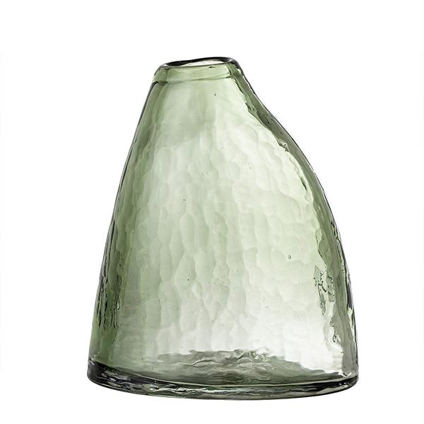 INI GREEN GLASS VASE LARGE