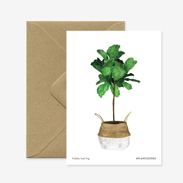 FIG PLANT GREETINGS CARD