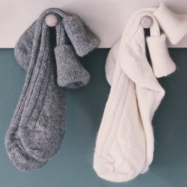 TOM LANE ALPACA BED SOCKS GREY