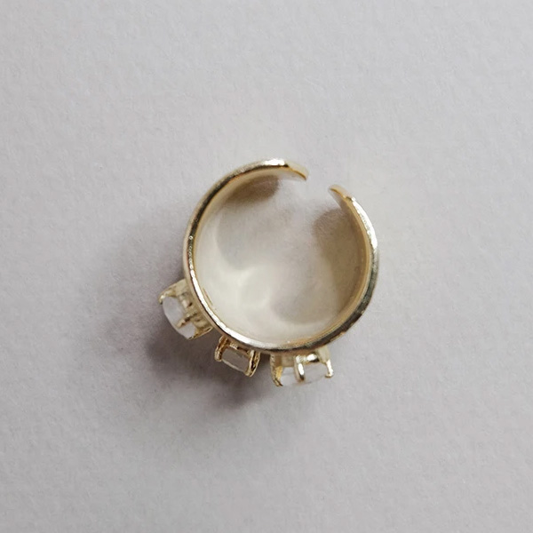 NATAL GOLD RING WITH MOONSTONE